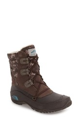 The North Face Women's 'Nuptse Purna' Boot Shroom Brown Storm Blue