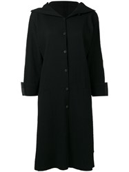 Issey Miyake Cauliflower Ribbed Single Breasted Coat Black