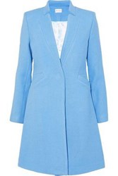 Milly Wool Blend Twill Coat Light Blue