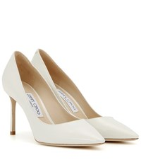 Jimmy Choo Romy 85 Patent Leather Pumps White