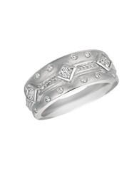 Morris And David 14Kt White Gold Diamond Ring Silver