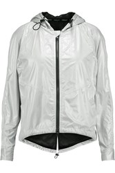 Rebecca Minkoff Livingston Metallic Shell Hooded Jacket