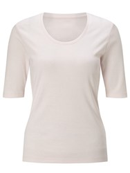 John Lewis Half Sleeve Scoop Neck T Shirt Pale Pink