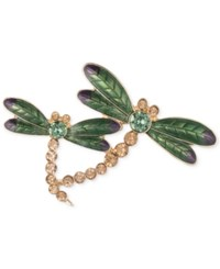 Anne Klein Gold Tone Dragonfly Pin