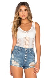Twenty Boa Crochet Body Suit White