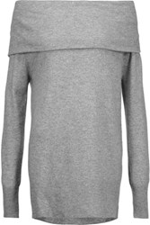 Madeleine Thompson Draped Cashmere And Wool Blend Sweater Gray