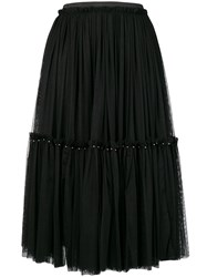 Twin Set Pleated Tulle Skirt Black