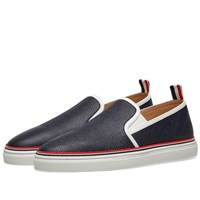 Thom Browne Slip On Trainer Blue
