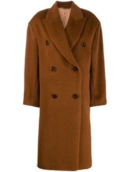 Acne Studios Oversized Fit Coat Brown