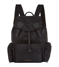 Burberry Shoes And Accessories Nylon Backpack Unisex Black