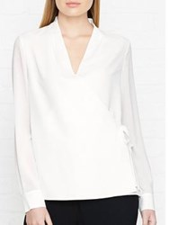 Hobbs Cecily Wrap Blouse Ivory