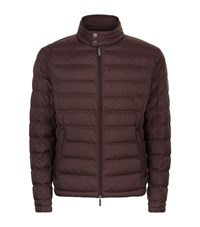 Boss Quilted Down Jacket Male Brown