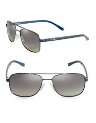 Hugo Boss Matte Aviator Sunglasses Matte Blue