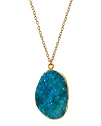 Panacea Druzy Pendant Necklace Blue