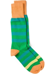 Paul Smith Striped Socks Green