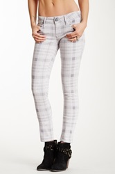 Black Orchid Tencel Plaid Skinny Jean Multi