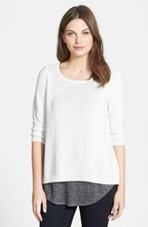 Women's Eileen Fisher Ballet Neck Sweater Soft White