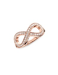 Thomas Sabo Sterling Silver Infinity Ring Rose Gold