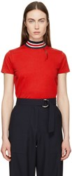 Harmony Red Tiphaine High Neck T Shirt