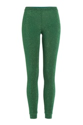 Missoni Leggings With Metallic Thread Green