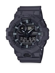 G Shock Front Button Strap Watch Grey