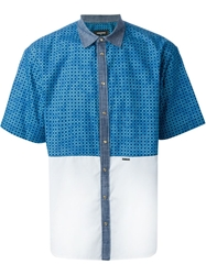 Dsquared2 Panelled Shirt Blue