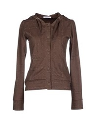 Patrizia Pepe Love Sport Sweatshirts Dark Brown