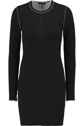 Rag And Bone Andee Two Tone Merino Wool Sweater Dress Black