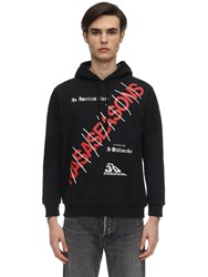 Nasaseasons American Story Cotton Sweatshirt Hoodie Black