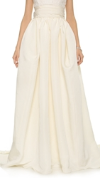 Marchesa Silk Faille Ballgown Skirt Ivory
