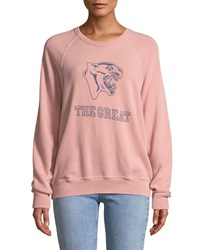 The Great College Sweatshirt W Varsity Graphic Pink Blue