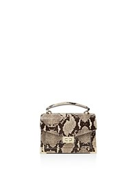 The Kooples Emily Snake Embossed Leather Mini Crossbody Taupe