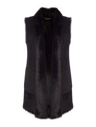 Andrew Marc New York Faux Shearling Gilet Black