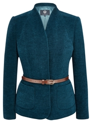 Viyella Dark Chenill Jacket Peacock