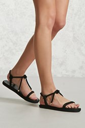 Forever 21 Braided Rope Sandals Black