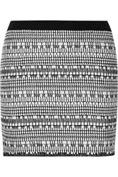 Helmut Lang Jacquard Knit Mini Skirt Black