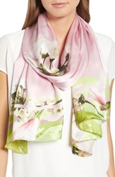Ted Baker London Harmony Silk Scarf Pale Pink