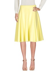 Douuod Knee Length Skirts Yellow