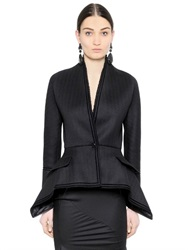 Givenchy Asymmetrical Wool Chevron Jacket