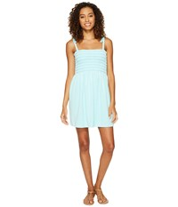 Juicy Couture Venice Beach Microterry Rouched Ties Dress Island Paradise Women's Dress Green