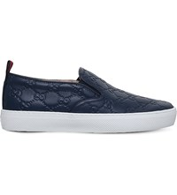 Gucci Dublin Gg Leather Skate Shoes Blue Other