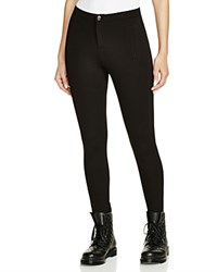 Aqua Slit Pocket Leggings Black