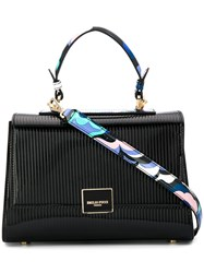 Emilio Pucci Abstract Print Details Tote Black