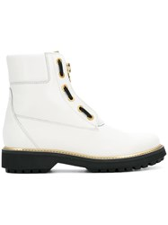 Geox Zipped Ankle Boots White
