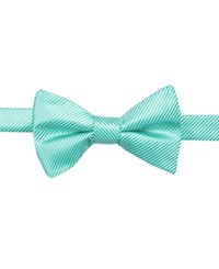 Countess Mara Solid Stripe Pre Tied Bow Tie Seafoam
