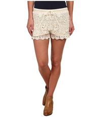 Stetson 9612 Crochet Lace Boyfriend Fit Short White Women's Shorts