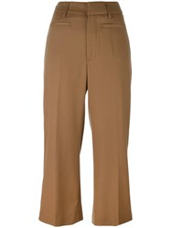 Dondup 'Romy' Cropped Trousers Brown