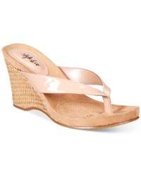Styleandco. Style Co. Chicklet Wedge Thong Sandals Only At Macy's Women's Shoes Nude