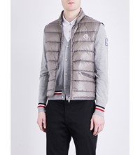 Moncler Quilted Down Filled Shell Gilet Grey