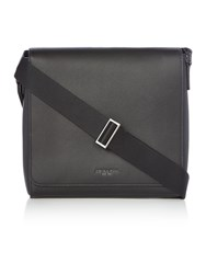 Michael Kors Harrison Calf Leather Flap Messenger Bag Black